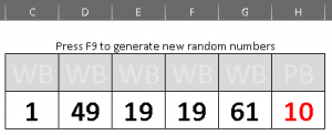 generate random powerball numbers