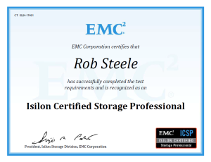 ICSP Isilon Certified Storage Professional