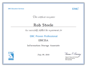EMCISA Information Storage Associate