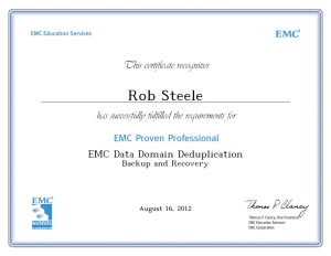 EMC Data Domain Backup and Recovery