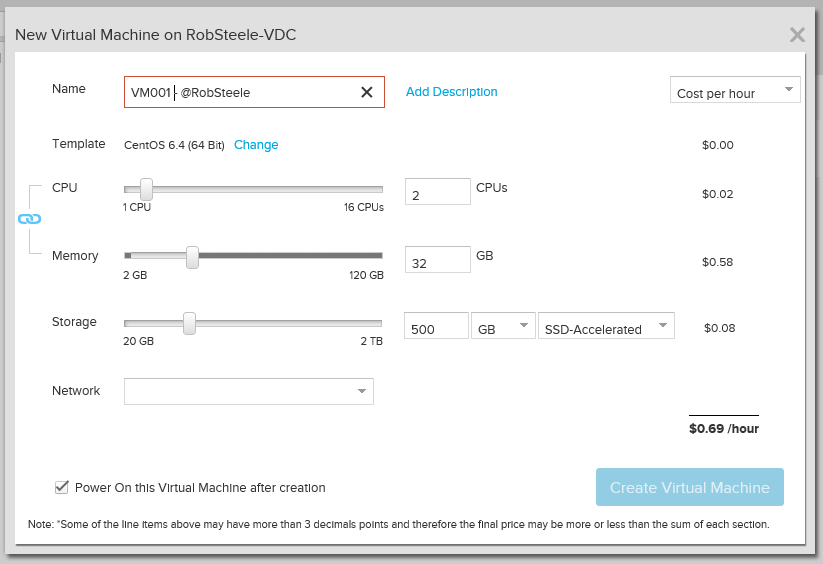 Create a new VM in vCloud Air