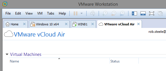 vmware vcloud air workstation
