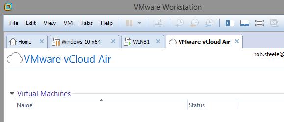 vmware vcloud air workstation