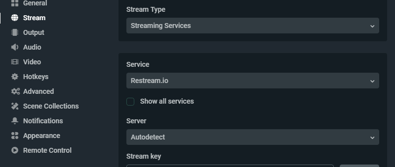 What is my stream key